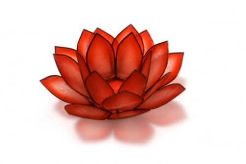 Lotus Capiz Shell Tealight Holder - Red Horizon